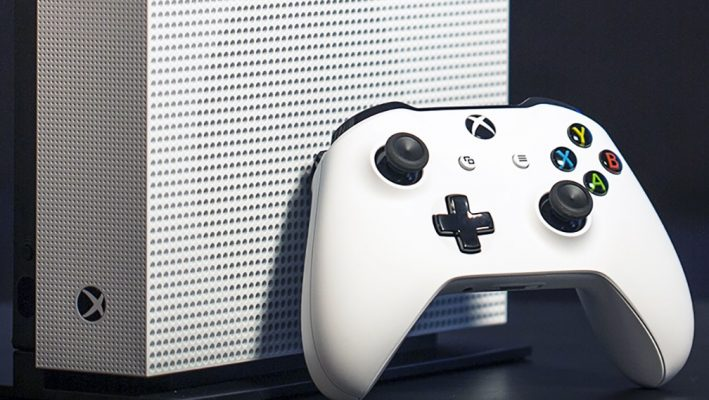 Xbox One S with controller image