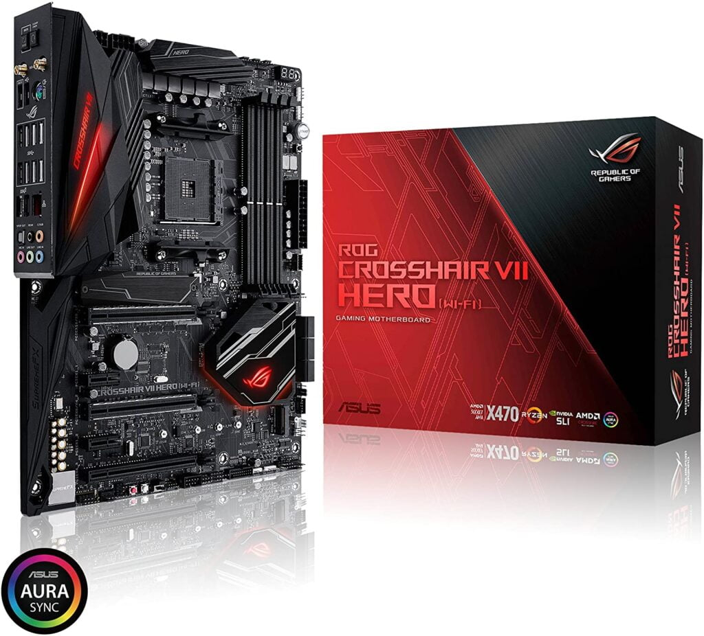 ASUS ROG Crosshair VII Hero gaming motherboard