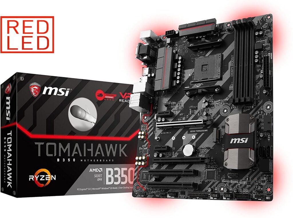MSI Gaming B350 Tomahawk ATX motherboard