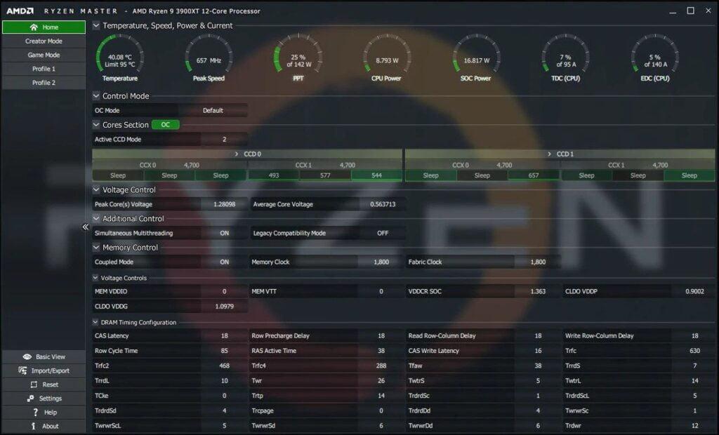 AMD Master Utility to monitor CPU temperature