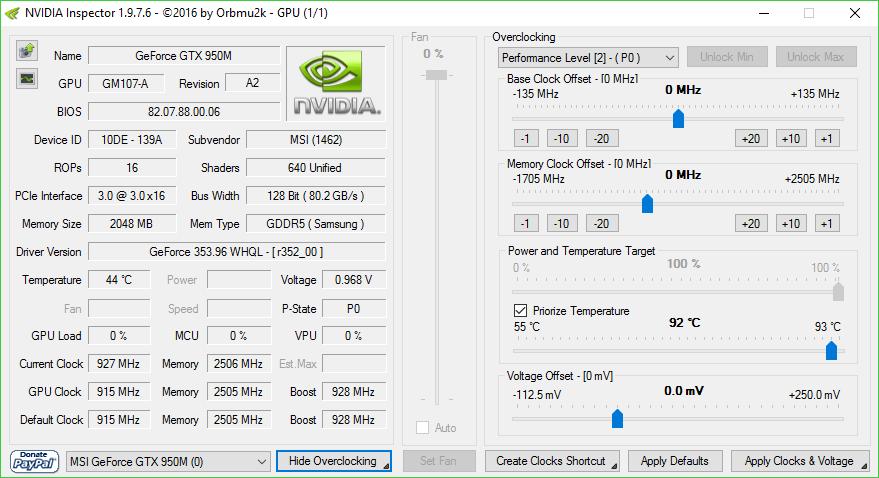 Nvidia Inspector - Overclocking software