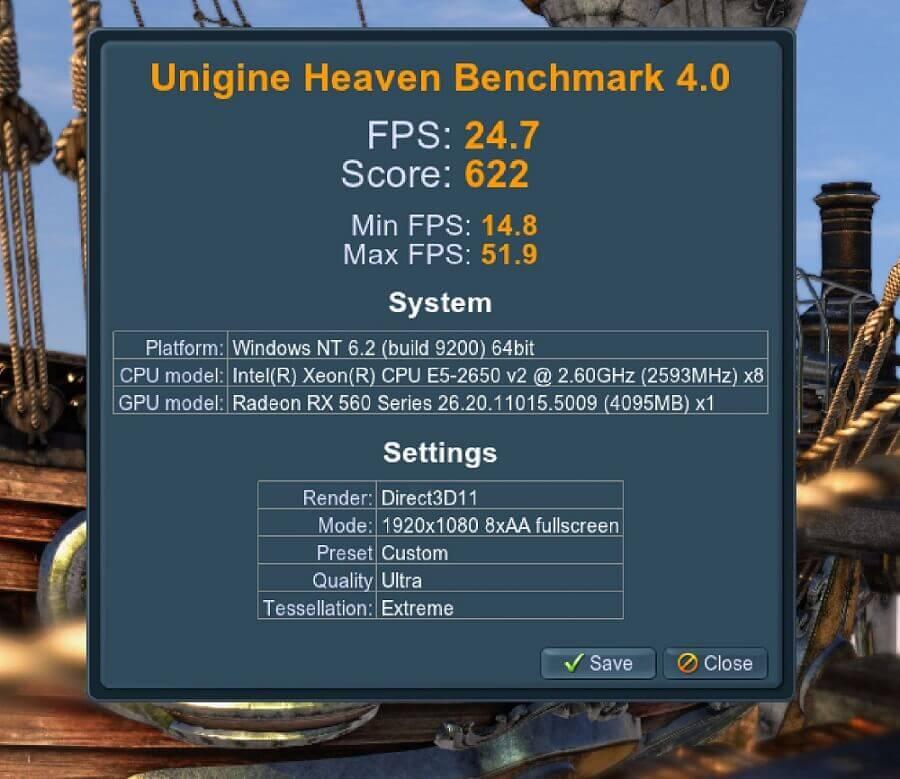 Unigine Heaven benchmark