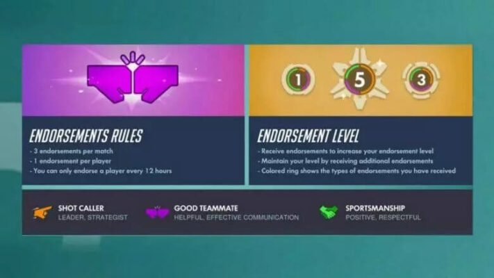 Endorse People to Gain Highest level in Overwatch