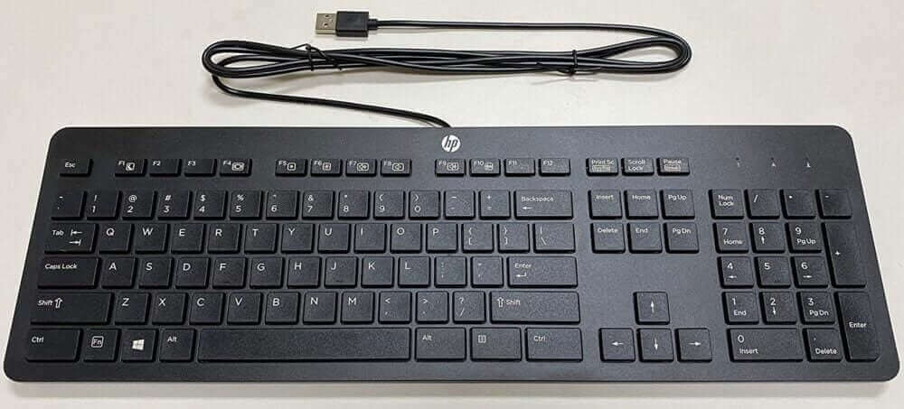 HP Slim Business Keyboard for Typing